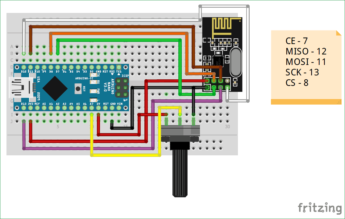 Interfacing Nrf24l01 With Arduino Controlling Servo Motor Use Possibly Related To Quotled Flasher Using Transistorquot Circuits Circuit Diagram Of Transmitter Part For