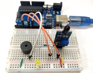 Circuit-Hardware-for-Flame-Sensor-Interfacing-with-Arduino