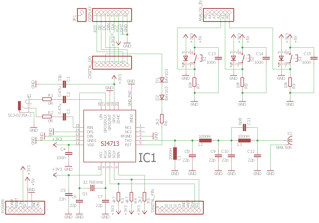Arduino Uno Fm Am Transmitter Circuit Si4713 Use For Projects Pic12f675 I2c Bit Banging Code And Proteus Simulation Schematic
