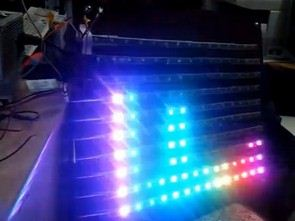SPECTRUM ANALYZER CIRCUIT ARDUINO RGB LED STRIP