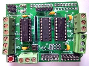 Soldered-components-on-DIY-Arduino-Motor-Driver-Shield-PCB