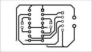 Actual-size PCB pattern for the circuit to control the robotic car
