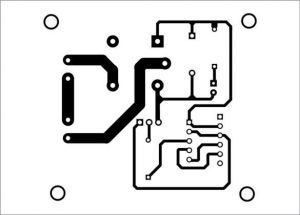 Actual-size PCB pattern of the home automation system