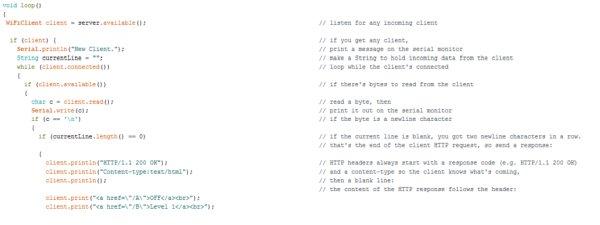 Code main loop