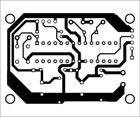 Component layout of the PCB shown in Fig. 4