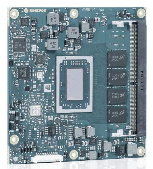Kontron Introduces its First Compact Ryzen V1000 Embedded Module