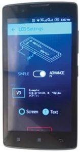 LCD widget setting