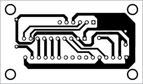 PCB layout for wireless LCD display