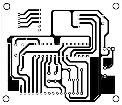 PCB layout of the weighing machine circuit