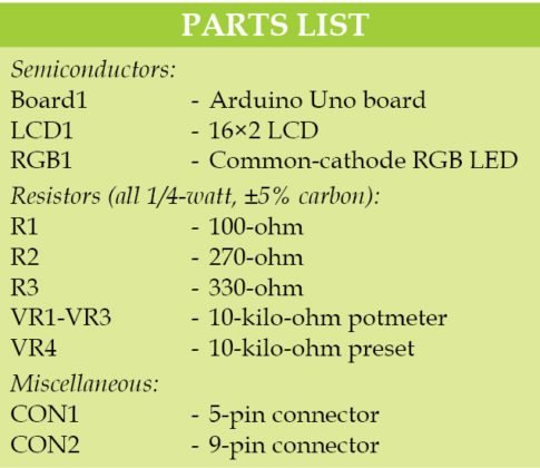 Arduino Based RGB Colour Code GeneratorUse Arduino for Projects