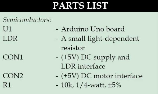 LDR Based DC Motor Speed ControlUse Arduino for Projects
