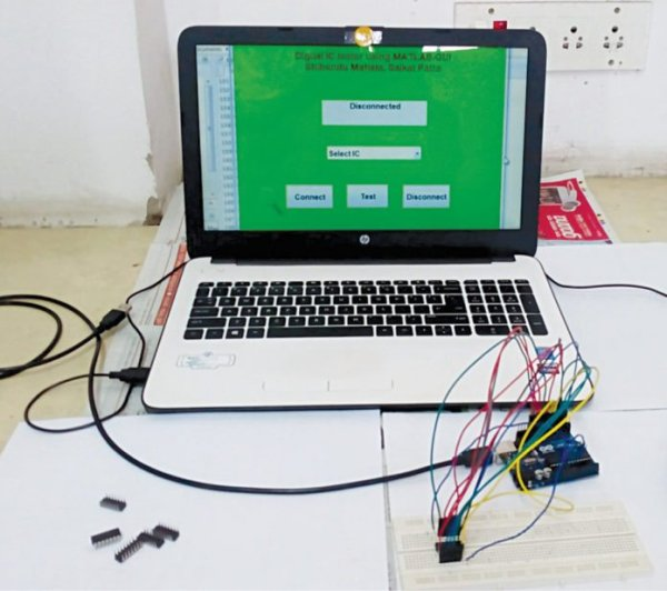 Authors' prototype of the digital IC tester