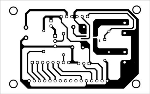PCB layout of DC panel meter using Arduino