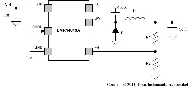 TEXAS INSTRUMENTS'S LMR14010A STEP-DOWN CONVERTER