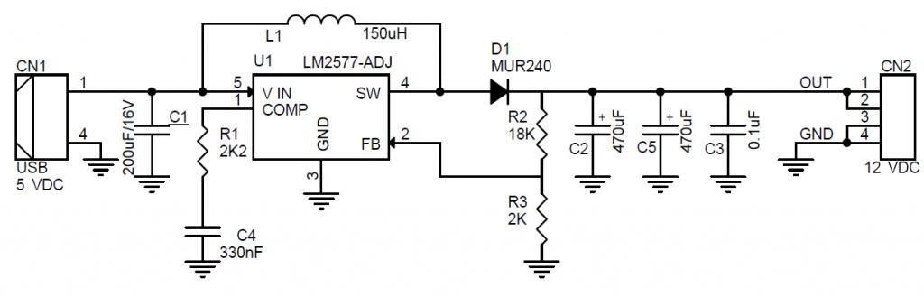 USB TO 12V BOOST CONVERTER 5