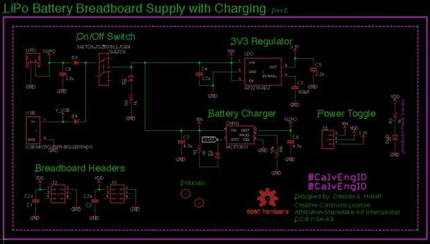 VERSATILE AND OPEN SOURCE LIPO BBATTERY BREADBOARD POWER SUPPLY