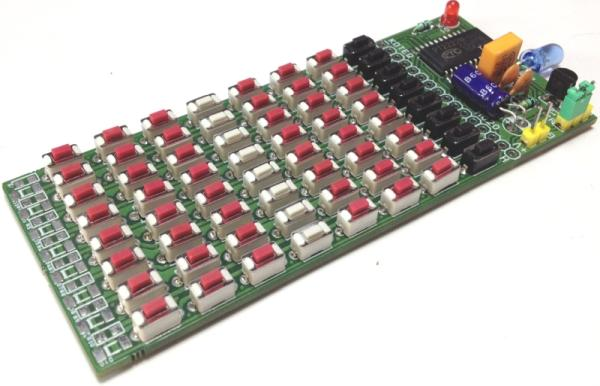 64 KEY INFRARED REMOTE CONTROLLER USING PT2222M – NEC CODE 5