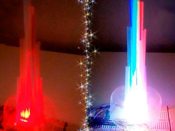 LED Straw XMAS Tree -Use Arduino For Projects