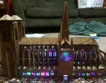 A LASER CUT GINGERBREAD CATHEDRAL