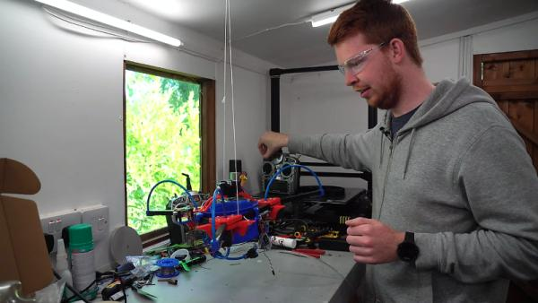 UNCONVENTIONAL DRONE USES GAS THRUSTERS FOR CONTROL
