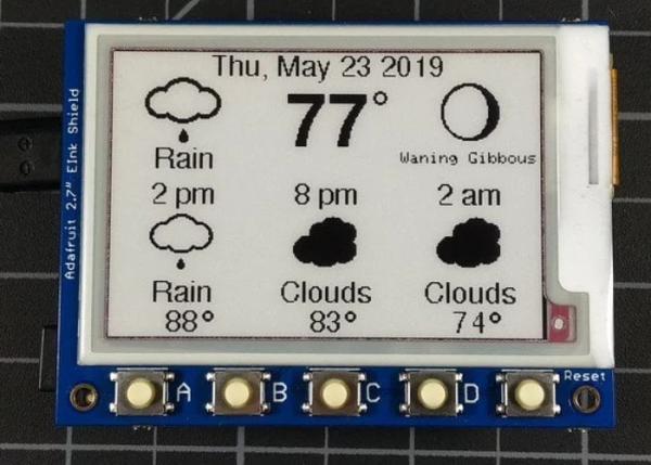 eInk DIY weather station project