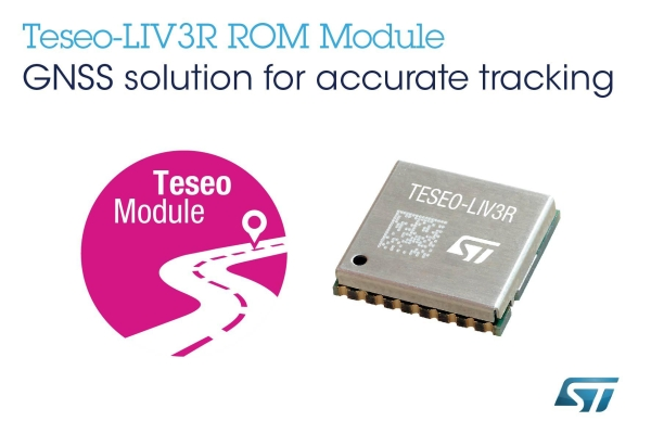 ST RELEASES ROM-BASED GNSS MODULE