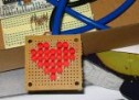Arduino Charliplexed Heart, Just in Time for Valentines Day.
