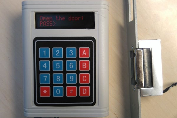 Arduino-Password-Unlock-Door-Security-System