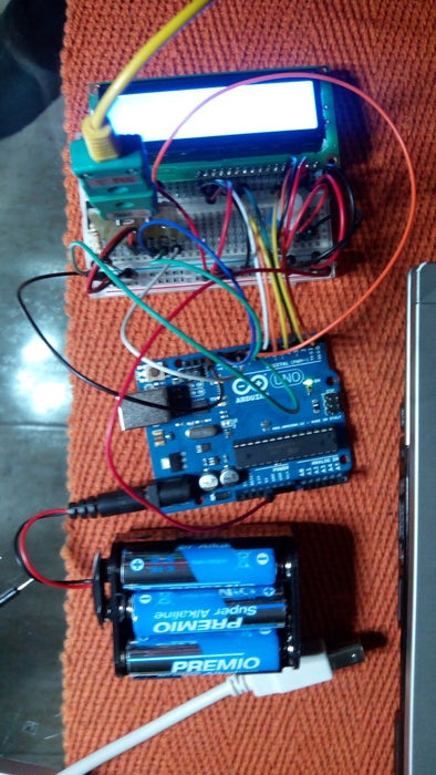 Arduino Type K Temperature Indicator