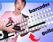 BARCODE GUITAR PLAYS MORE THAN BEEP-BOP