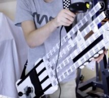 Barcode scanner MIDI guitar made using Arduino and acrade machine parts