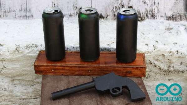 Cowboy-Toy-Arduino-Laser-Target