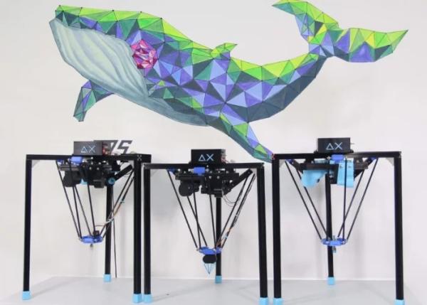 DIY Arduino robot created using Delta 3D printer with Delta X