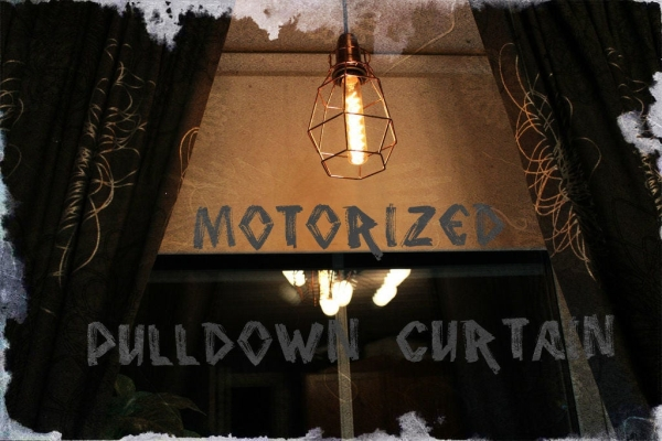 Motorized-Pulldown-Curtain-Phone-Radio-Controlled