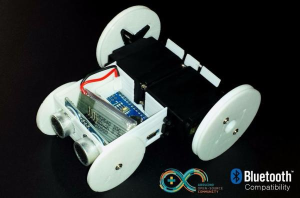 SparkRover-3D-Printed-Smartphone-Controlled-Robot