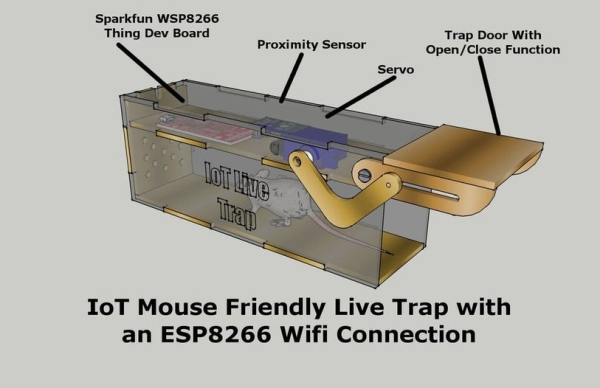 IoT Mouse-Friendly Live Trap
