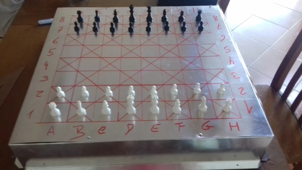 VOICE CHESS USES PHONE, ARDUINO, AND AN ELECTROMAGNET