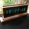 CAPTIVATING CLOCK TELLS TIME WITH TALL TUBES