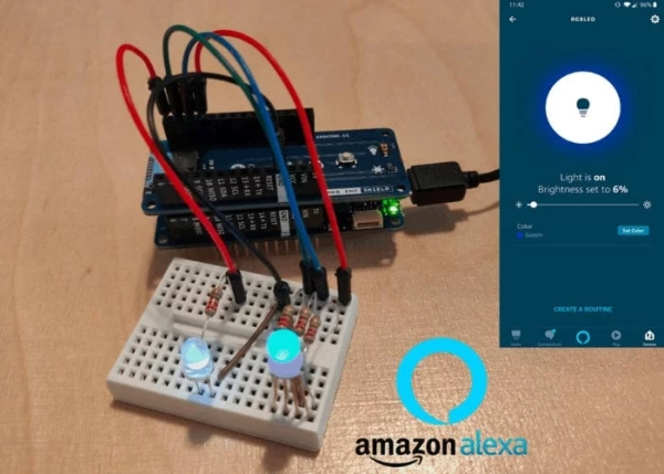 Arduino Internet of Things Cloud and Amazon Alexa cloud project