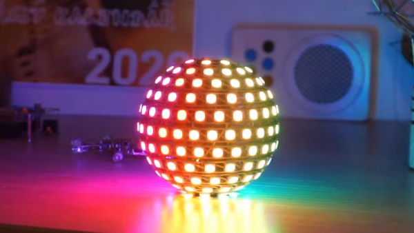 194 LED BALL IS FREE-FORM SOLDERING ON ANOTHER LEVEL