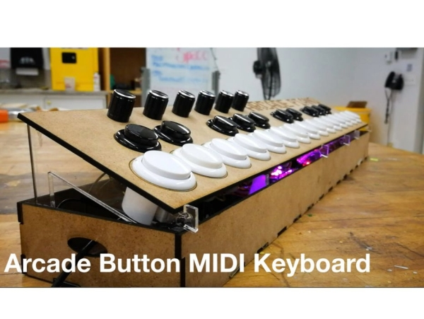 Arcade-Button-MIDI-Keyboard
