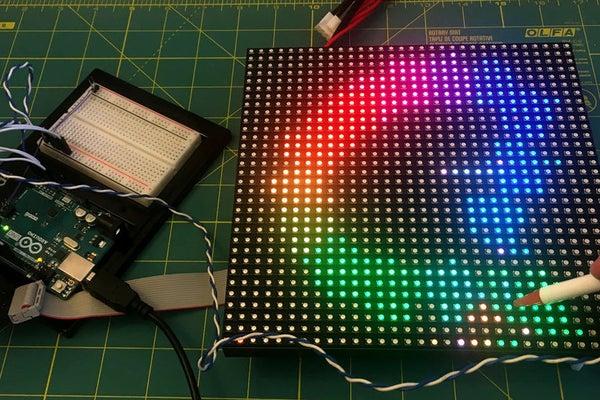 Using a LED Matrix As a Scanner