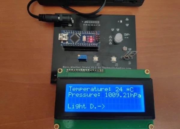 Arduino-Nano-Weather-Shield-project