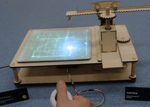 DIY-joystick-controlled-laser-drawing-machine