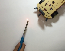 ROBOT FIGHTS FIRE WITH IR