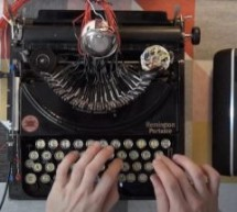 Awesome drum machine created from vintage typewriter