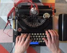 DRUMMING A BEAT ON A HUNDRED-YEAR-OLD TYPEWRITER