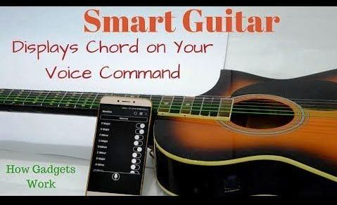 Chord Displaying Smart Guitar