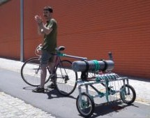 MESSAGE IN A BOTTLE: BICYCLE TRAILER ON A MISSION