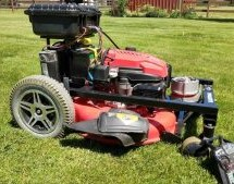RC LAWN MOWER KEEPS THE GRASS GREENER ON YOUR SIDE OF THE FENCE